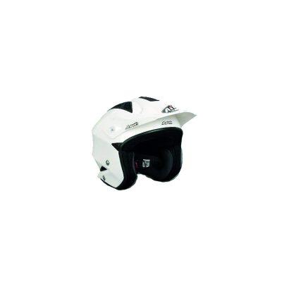 Lättviktshjälm för snöskoter, ATV och skogsbruk, vit och svart. Smidig och lätt hjälm.